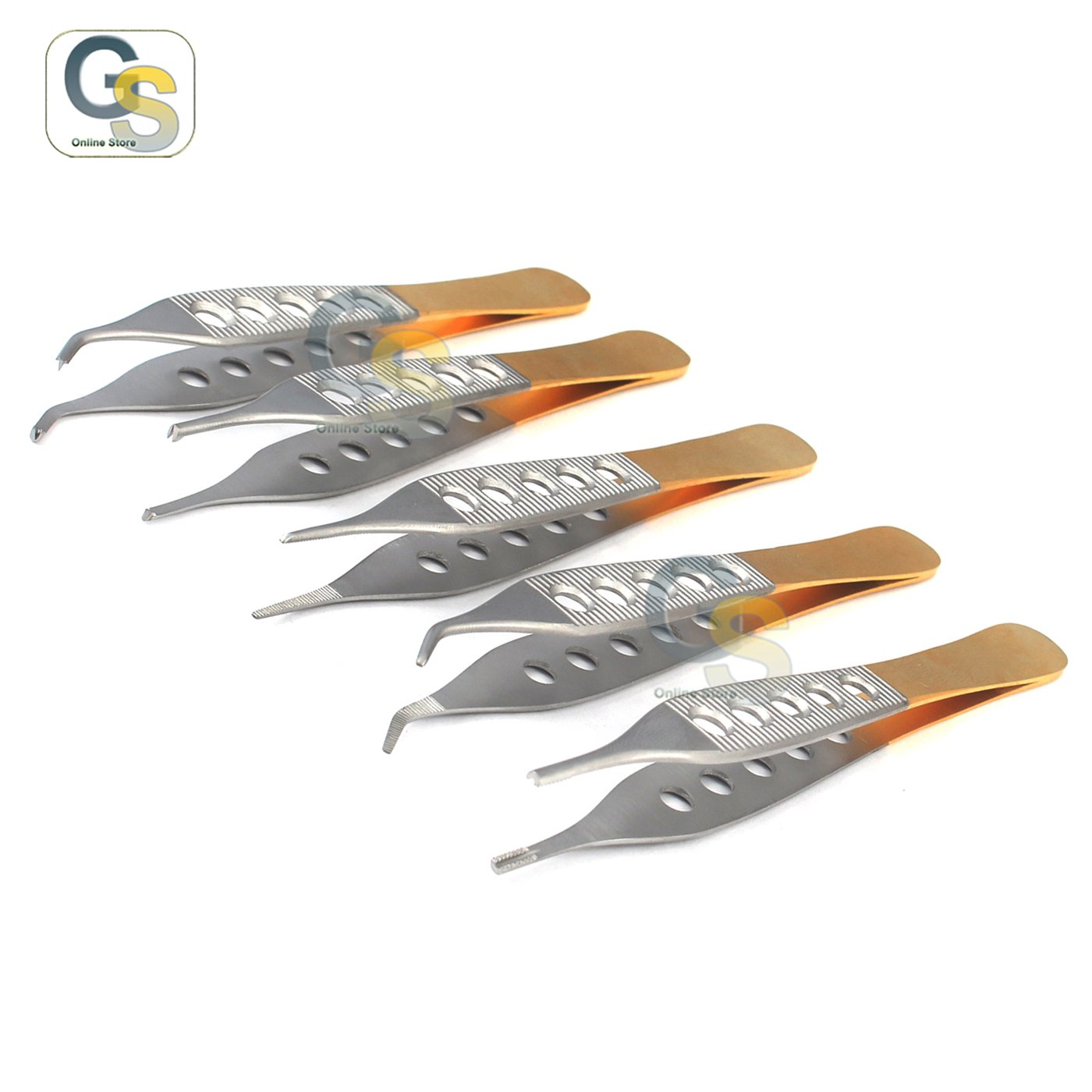 G.S NEW SET OF 5 PCS ADSON MICRO PLASTIC SURG FORCEPS INSTRUMENTS W/ FENESTRATED HANDLE BEST QUALITY by G.S ONLINE STORE (Image #3)