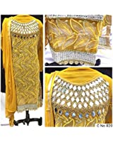 BHUMIK ENTERPRISE Yellow COLOR LATEST INDIAN DESIGNER ANARKALI SALWAR KAMEEZ DRESS for women & girls party wear stitched For Girls For Specail Uses In wedding, engagement , Party Wear, Free Size