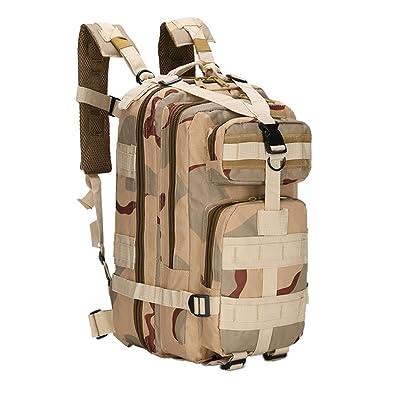 25L Sac à Dos Tactique Militaire Sac de Randonnée Camouflage Sac d'Alpinisme Camping Voyage DCU