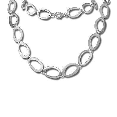 3e25294c267df1 SilberDream Halsschmuck 45cm Collier Kette matt oval 925er Silber SDK433