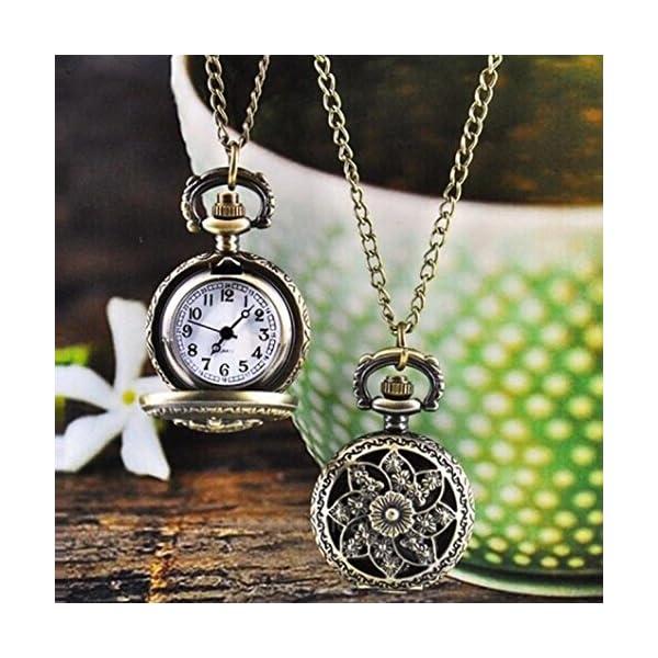 Watch Chain;START Women&Men Metal Vintage Hollow Flower Watches Pocket Watch