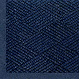Andersen 2297 Waterhog Eco Premier Fashion PET Polyester Fiber Indoor/Outdoor Floor Mat, SBR Rubber Backing, 6' Length x 6' Width, 3/8'' Thick, Indigo