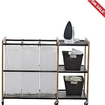Laundry Hamper Storage Baskets Small Bathroom Rectangular Store Shelves  Laundry Organizer U0026 Ebook By Easy2Find