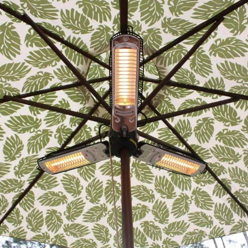 Fire Sense Indoor/Outdoor Infrared Heater with Patio Umbrella Pole Attachment