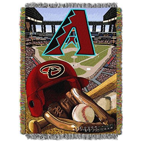 The Northwest Company MLB Arizona Diamondbacks Home Field Advantage Woven Tapestry Throw, 48