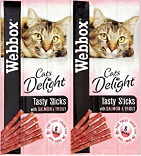 fb9c0764f226a8 Webbox Cats Delight Tasty Sticks with Salmon   Trout (6 per pack - 30g)