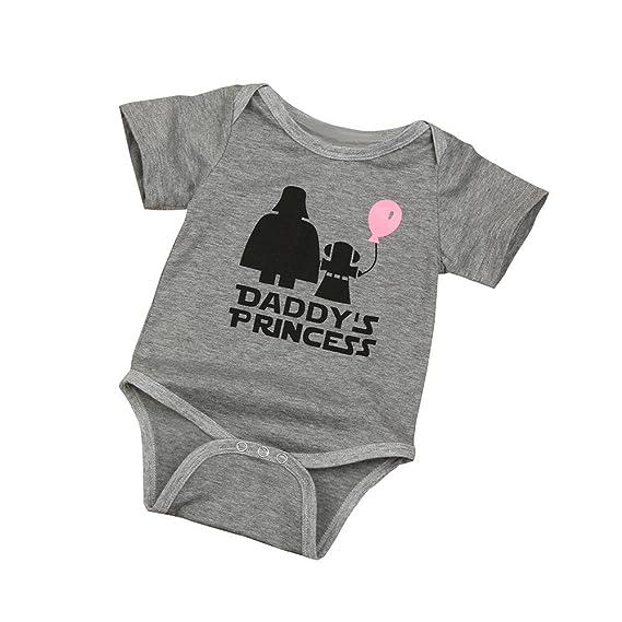 Conjunto de Bebé, ❤️Xinantime Mameluco infantil recién nacido de la letra del estampado de