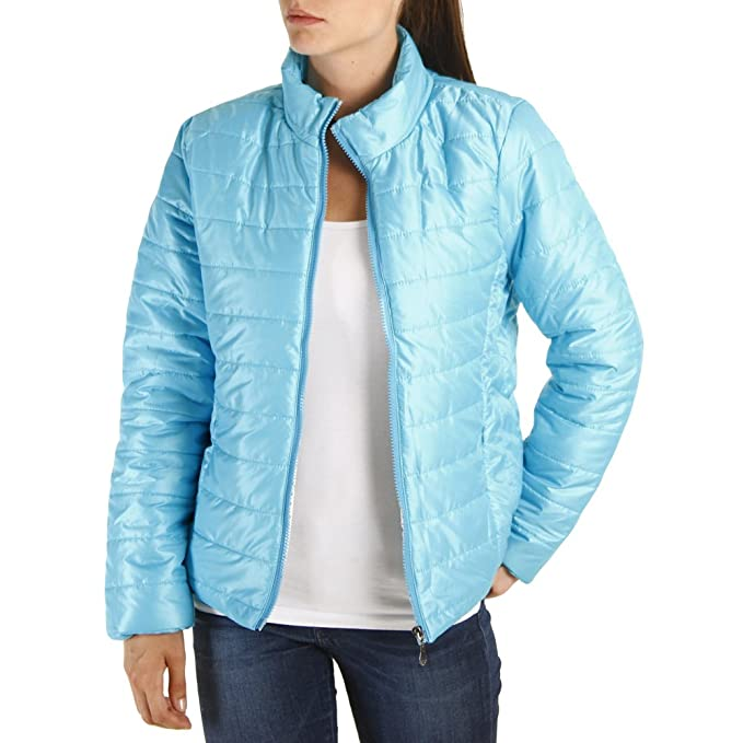 new concept a7de2 eab19 No - Cappotto - Piumino - Donna azzurro cielo Medium: Amazon ...