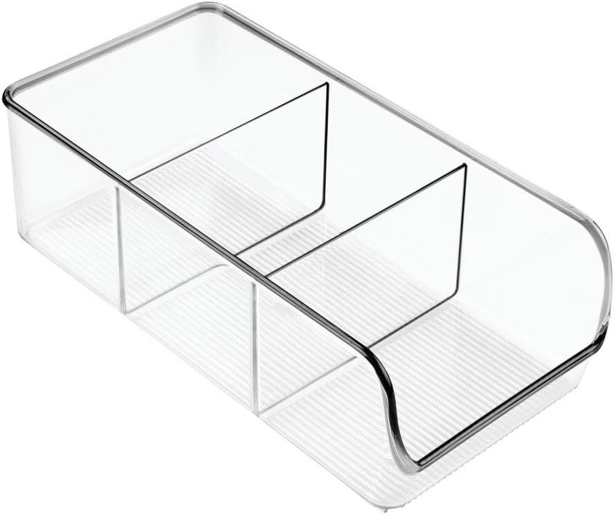 InterDesign Linus Kitchen, Pantry, Refrigerator, Freezer Storage Container, Clear
