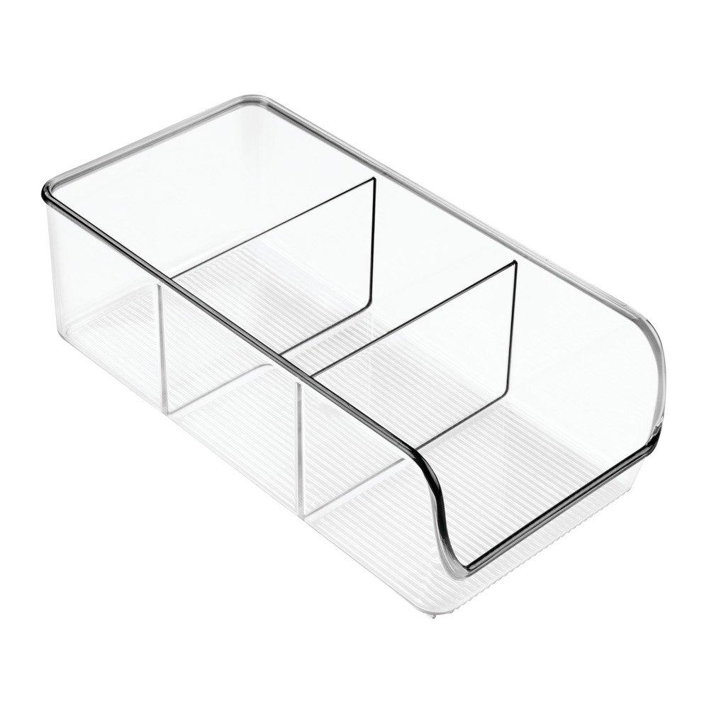 InterDesign Linus Organizador para la cocina, caja organizadora de plástico antirrotura de tamaño mediano con