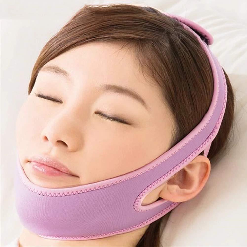 QINAIDI Belt Anti Stop Snoring - Solución De Máscara De Sueño Chin Support Strap para Mujer Hombre Face Lift Up Belt Slimming Jaw Anti Snoring: Amazon.es: ...