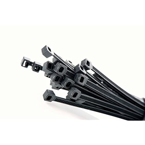 All Trade Direct 100 X Black Cable Ties 200Mm X 4.8Mm Zip Tie Wraps Bases All Sizes Stocked