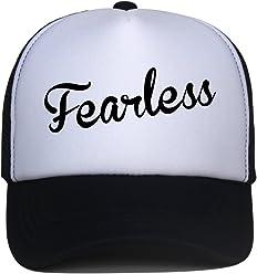 5ff8f1a1 DongKing Trucker Hats for Kids Fearless Pattern Print Summer Mesh Baseball  Cap