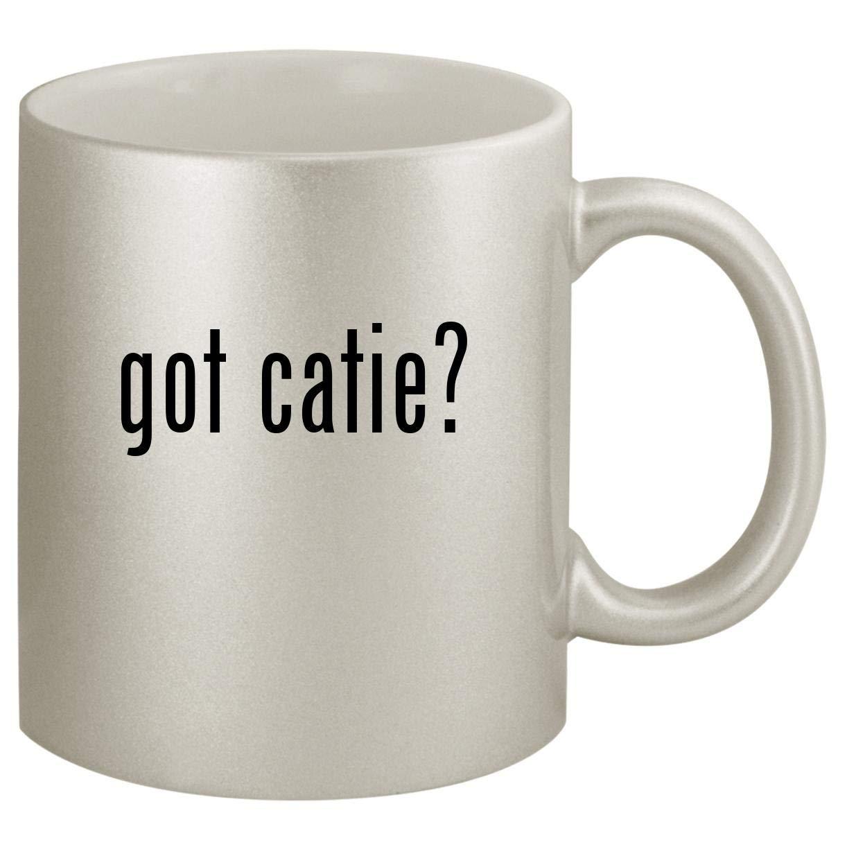 got catie? - Ceramic 11oz Silver Coffee Mug, Silver