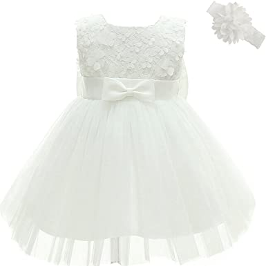 Amazon.com: Moon Kitty Baby Girl Dress Christening Baptism Gowns 3D ...