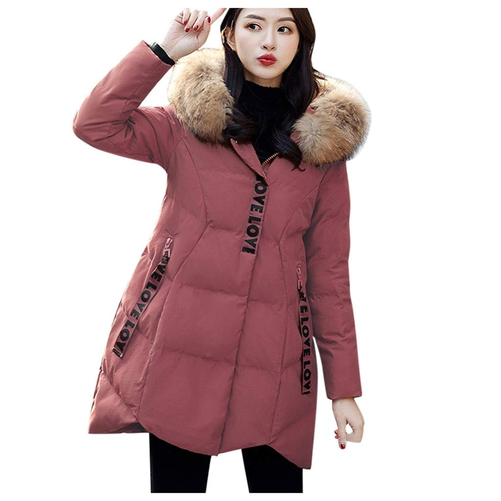 Yanvan Fashion Women Winter Jacket Warm Cotton Hooded Winter Jacket Long-Sleeved Coat by Yanvan
