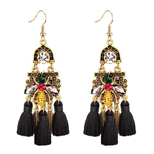 Earrings Nice Fashion Jewelry Statement Tassel Flower Vintage Long Women Bohemian Earrings Ethinic Gold Big Dangle Drop Earrings For Women 100% Original