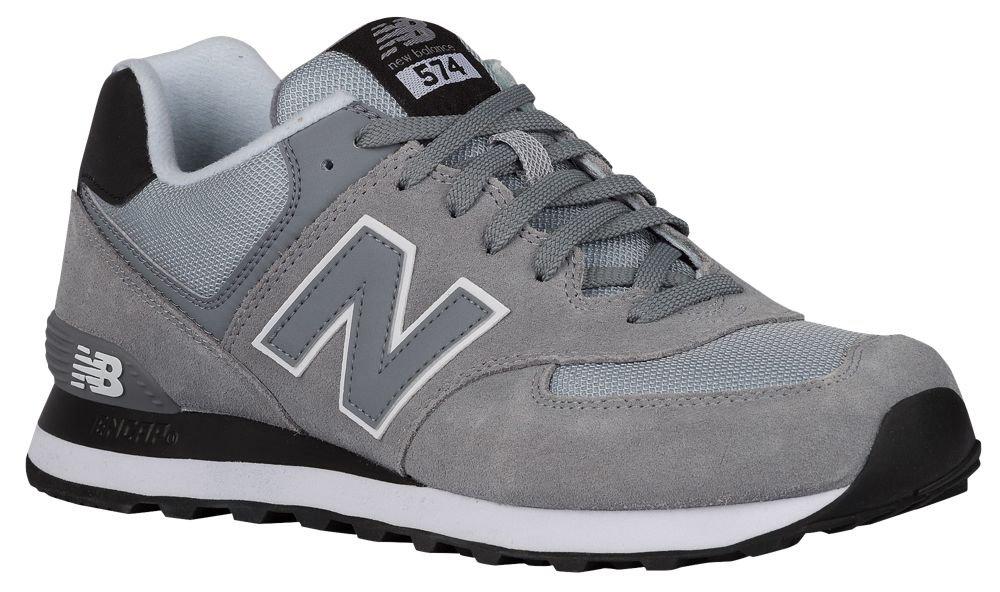 [ニューバランス] New Balance 574 - メンズ ランニング [並行輸入品] B0716ZTVPN US07.5|Steel/Black