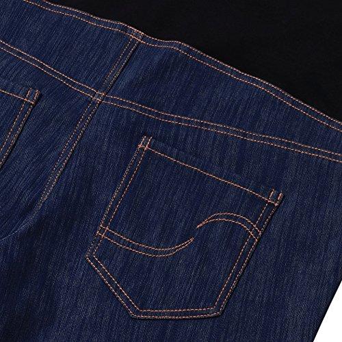 GINKANA High Waist Maternity Denim Shorts Cotton Summer Over Belly Pregnancy Shorts Linen Pants by GINKANA (Image #5)
