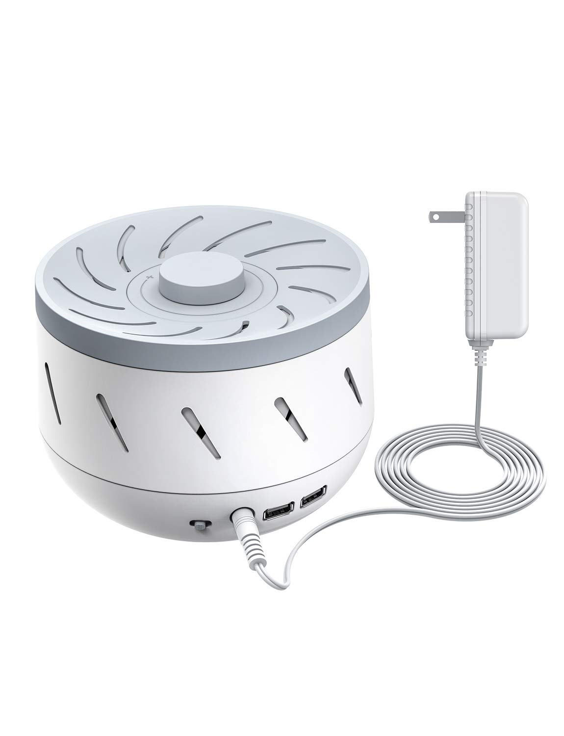 Mpow White Noise Sound Machine, Fan Noise Machine with 85 DB Adjusted Volume, White Noise Masking Sound Therapy for Baby, Sleep, Office Privacy, 2 USB Output, Auto Off Timer, AC Adapter Included