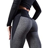 Heyean Leggings Womens High Waisted Seamless Tummy Control Stretch Comfort Slim Butt Lift Fitness Tights Running Yoga…