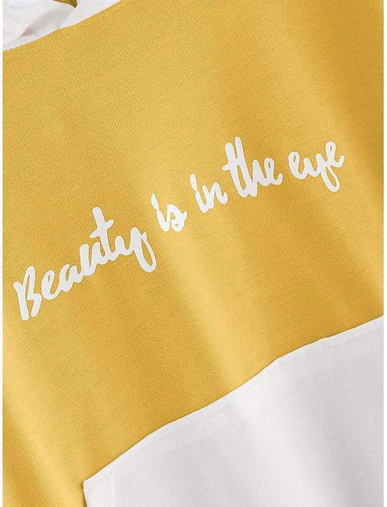 Donna Manica Lunga Felpe Tops Camicetta beautyjourney Felpe Donna con Cappuccio Tumblr Ragazza Eleganti Donna Grandi Sweatshirt Donna Tumblr Hoodie Maniche Lunghe