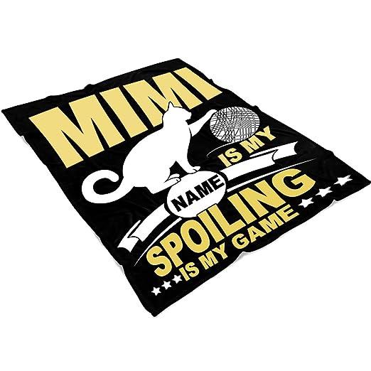 Amazon.com: UTAMUGS Mimi is My Name Soft Fleece Throw Blanket, Spoiling is My Game Fleece Luxury Blanket (Medium Fleece Blanket (60