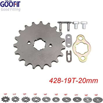 GOOFIT 20mm Sprocket Front for Motorcycle ATV Dirt Bike 420-19T