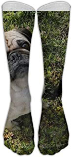 Kotdeqay Men Hip-hop Unisex Athletic high Knee Long Cotton Stockings Breathable Compression Socks