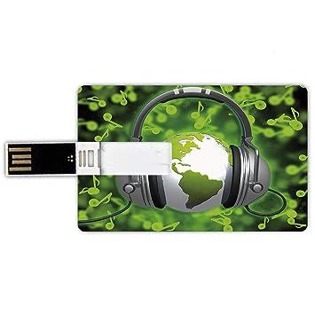 64GB Forma de tarjeta de crédito de unidades flash USB Mundo ...