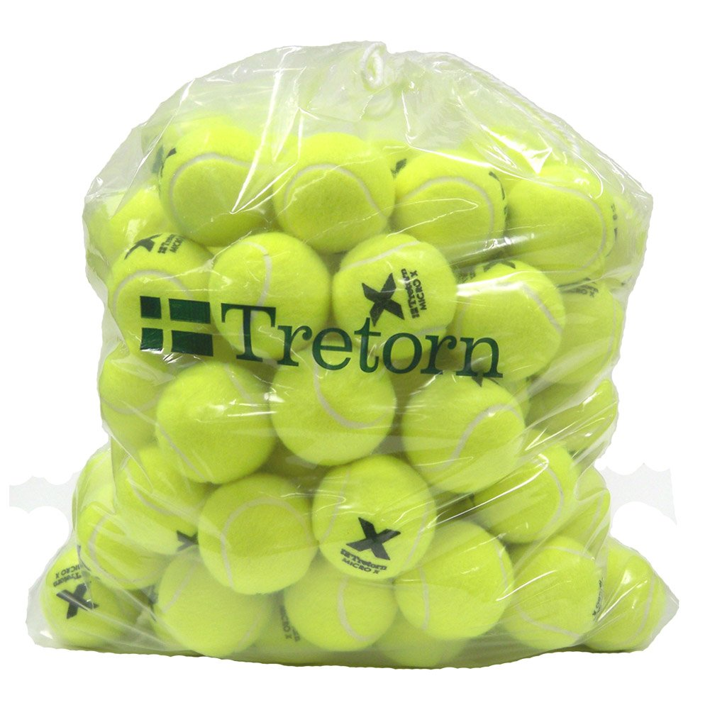 Tretorn Micro-X (Yellow) Pressureless Tennis Balls (Bag of 72 Balls) by Tretorn