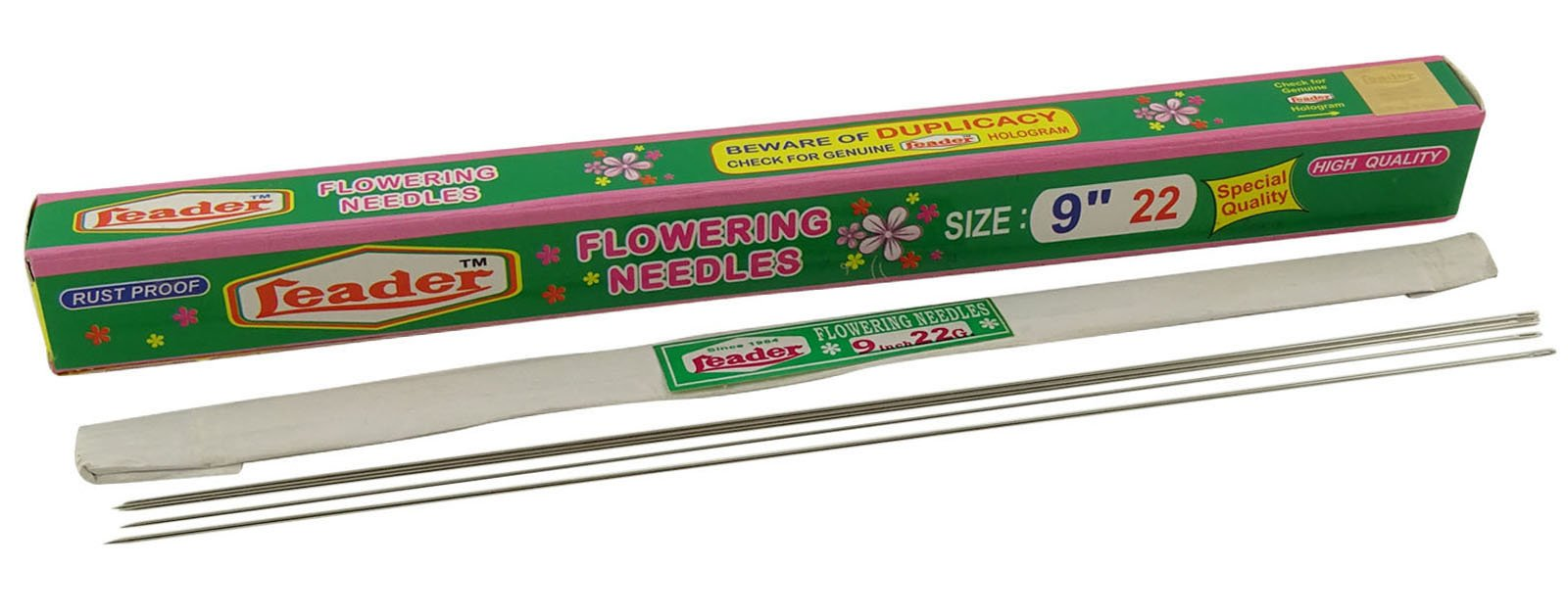 Leader-Sewing Rust Proof 9 Inches Needles For Making Flower Garland by Leader-Sewing