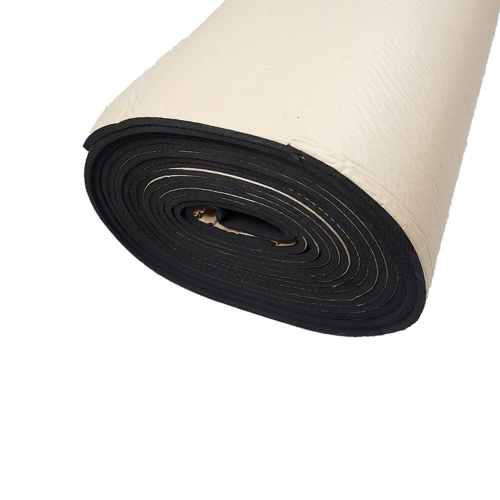 HOUTBY 2Roll 10mm Car Sound Proofing Deadening Insulation Closed Cell Foam Noise Soundproof 50cm X 300cm
