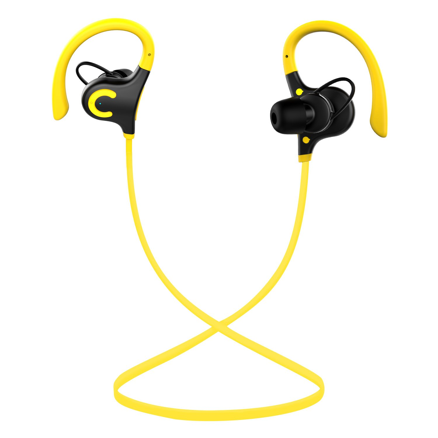 AN S/2 Wireless Earbuds Bluetooth Headphone Sport in-Ear IPX 4 Sweatproof Earphones with Mic (Super Sound Quality Bluetooth 4.1,3-10 Hours Play Time) Yellow/Black