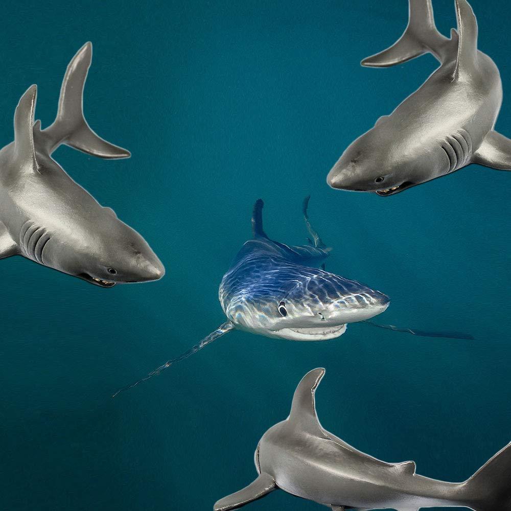 1 Pieza de Figuras de tiburón Sonriente para decoración de Acuario, réplica de Vida Marina para Acuario, Adorno de Acuario con una Sonrisa Sonriente, ...