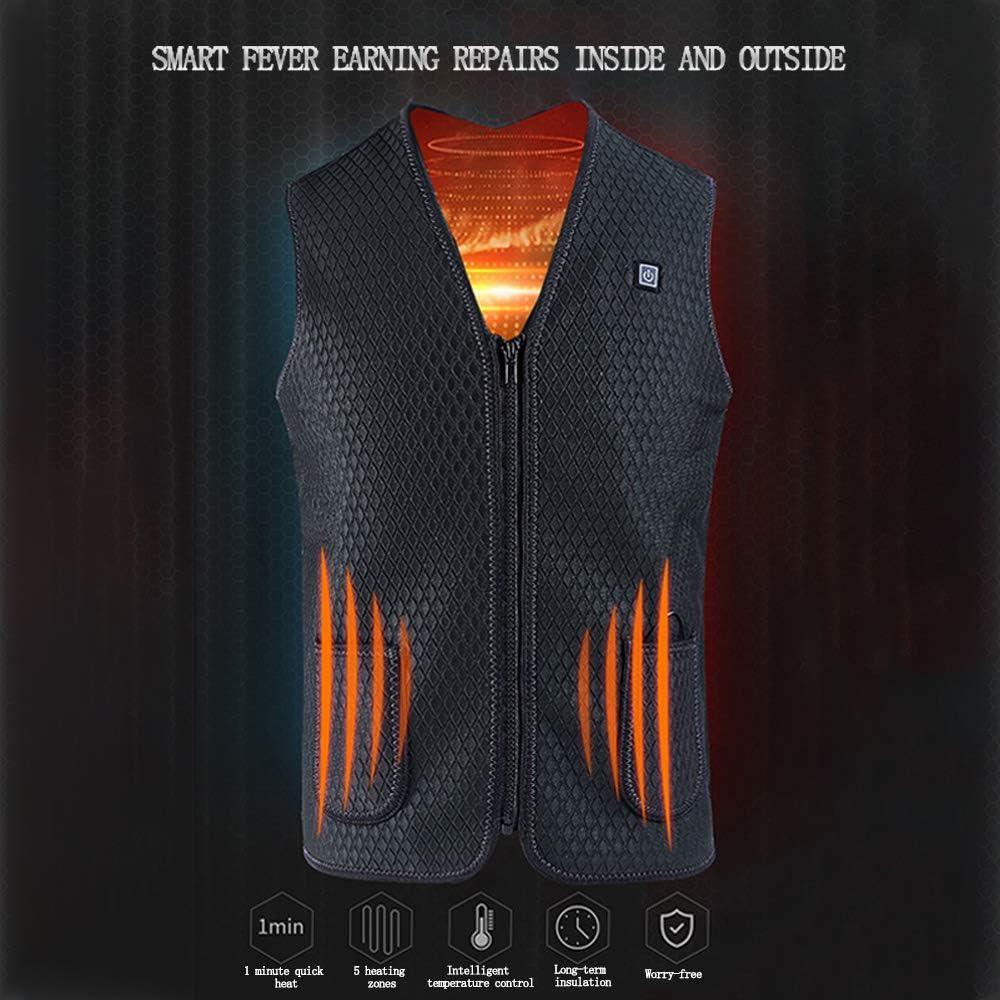 Heated Vest,USB Charging Electric Heated Jacket Washable Heated ...