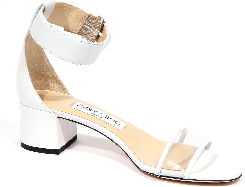 1920J Sandalo Donna White JIMMY CHOO Jaimie Leather/plexi Shoe Woman Bianco