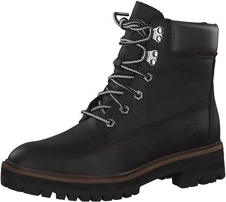 estimular café Intercambiar  TIMBERLAND A1RCH Negro Amarillo Zapatos Mujer Cuero Botas Prem London  Square 6in: Timberland: Amazon.es: Zapatos y complementos