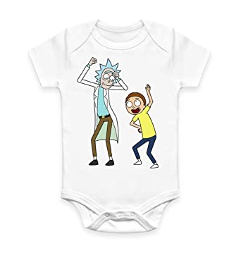 Funny Rick and Morty Baby Grow Bodysuit Vest Unisex Gift Tiny Rick