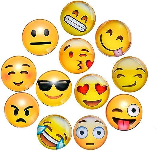 Marbeine - Imán con diseño de Emoticono de emoticonos en 3D, 12 ...