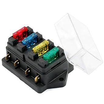 YSHtanj caja de fusibles para interior de coche de 12 V/24 V ...