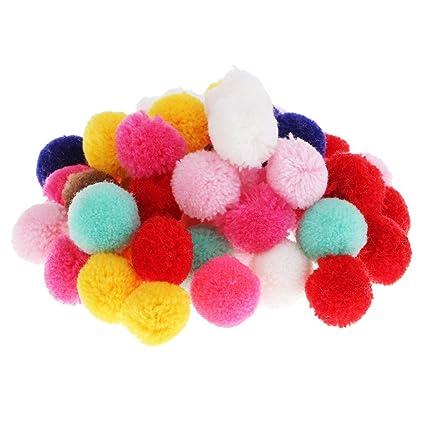 Magideal 50 Pcs Melange Fluff Ball Pom Pom Pour Artisanat
