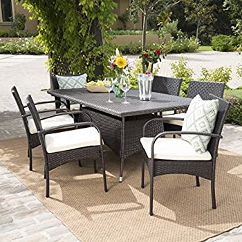 Amazon Com Outdoor Wicker Patio Furniture New Resin 7 Pc