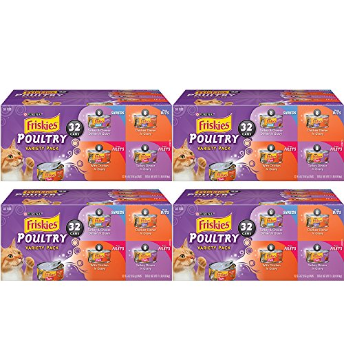 .Purina Friskies. Poultry Variety Pack Cat Food (32 Pack), 4-Pack