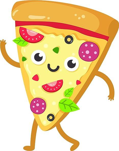 Amazon com: Cute Happy Kawaii Supreme Pizza Slice Cartoon