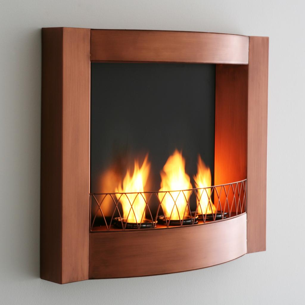 sei copper wall mountable gel fuel fireplace kitchen dining. Black Bedroom Furniture Sets. Home Design Ideas