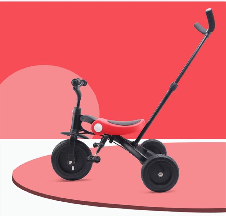 BABIFIS Niños 3 en 1 Pedal para niños, Triciclo, Triciclo, Bicicletas de Equilibrio, 2-6 años de Edad - Ruedas de iluminación LED, Plegable, liviano, Aprobado por la CE
