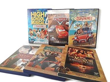 Pack de 6 películas DVD clasicos Disney _ Cars, HSM2, Mulan,..._ REF.3: Amazon.es: Cine y Series TV
