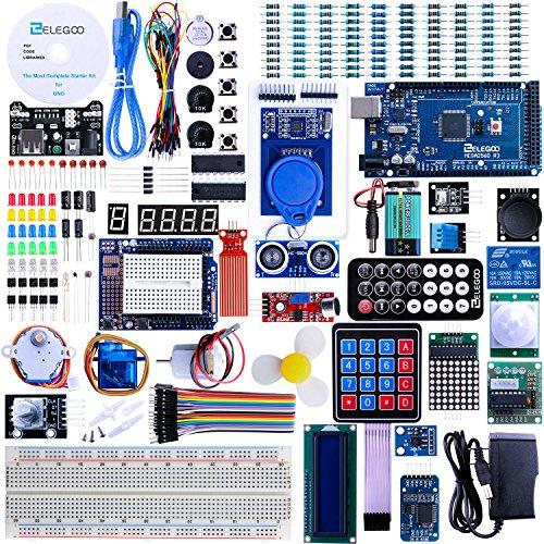 Elegoo Mega 2560 Project The Most Complete Ultimate Starter Kit w/ TUTORIAL, MEGA 2560 controller board, LCD1602, Servo, Stepper Motor for Arduino Mega2560 UNO Nano (Electronics Kit Solder compare prices)