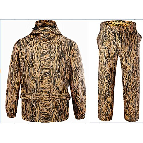 DaMaiZhang Camo Suits Clothing Hunting Trousers Fishing Spring Coat Breathable Jacket (L) from DaMaiZhang